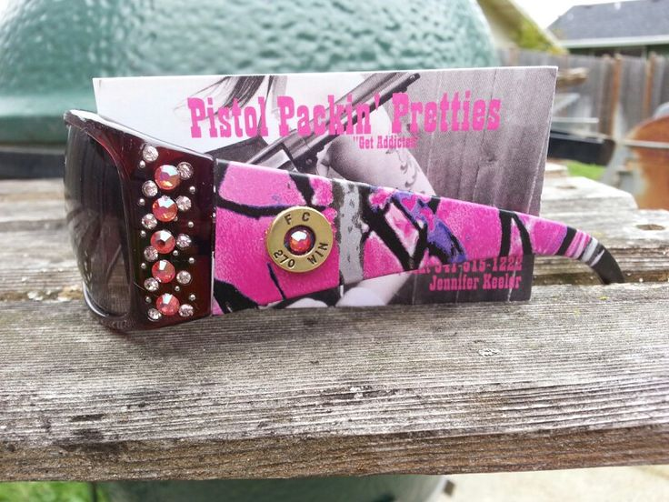 Muddy Girl Camo Sunglasses with .270 completed with Indian Pink