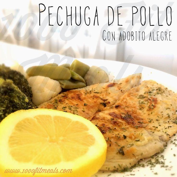 1000 Fit Meals: #81 Pechuguitas de pollo adobadas Ingredientes:  -1 limón -3 dientes de ajo -1 ramita de perejil -perejil picado -pimienta negra -1 cucharada de aceite de oliva virgen extra