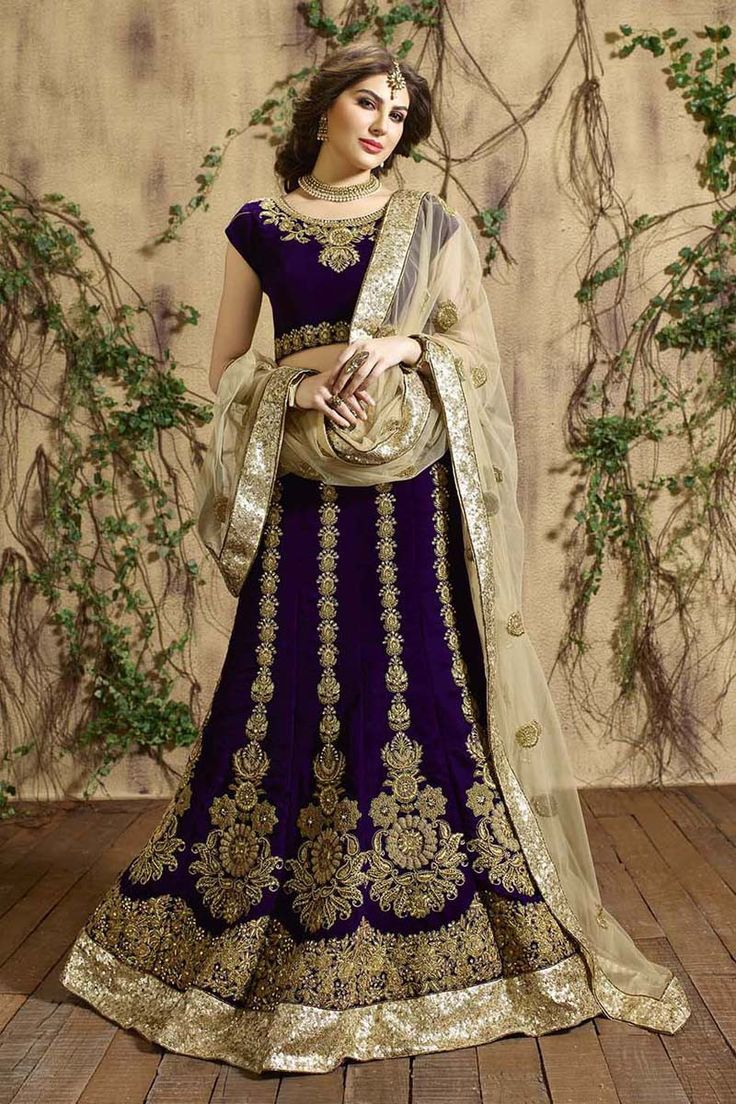 Buy Purple Velvet Designer Lehenga Online in low price at Variation. Huge collection of Designer Lehenga, Wedding Lehenga, Lehenga Choli, Ghaghra Choli, Bollywood Lehenga and Bridal Lehenga online for women at Variation. #designer #designerlehenga #lehenga #onlineshopping #latest #lowprice #variation  #weddinglehenga #lehengacholi #bollywoodlehenga #bridallehenga. To see more - https://www.variation.in/collections/lehenga