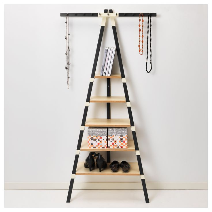 attractive leaning ladder shelf for middle room design idea wooden leaning shelves with black tone