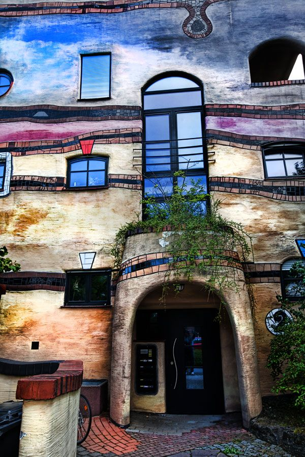 Darmstadt, Germany, designed by Friedensreich Hundertwasser, an Austrian architect. Photo by Chuck Turner