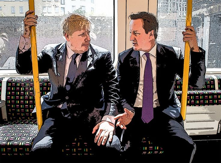 EU referendum. File photo dated 21/02/16 of Mayor of London Boris Johnson with Prime Minister David Cameron, whose friendship has been strained over their difference in opinion to vote leave and remain, one of the most significant events in the EU referendum campaign. Issue date: Wednesday June 22, 2016. See PA story POLITICS EU Moments. Photo credit should read: Stefan Rousseau/PA Wire URN:26677167 [ Rechtehinweis: picture alliance / empics ]