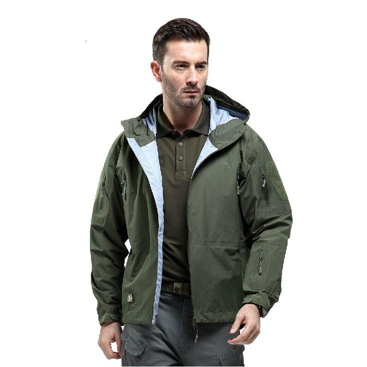 Тактический передач Hardshell куртка мужчины военный камуфляж водонепроницаемый ветрозащитный спортивные куртки альпинизм пальто