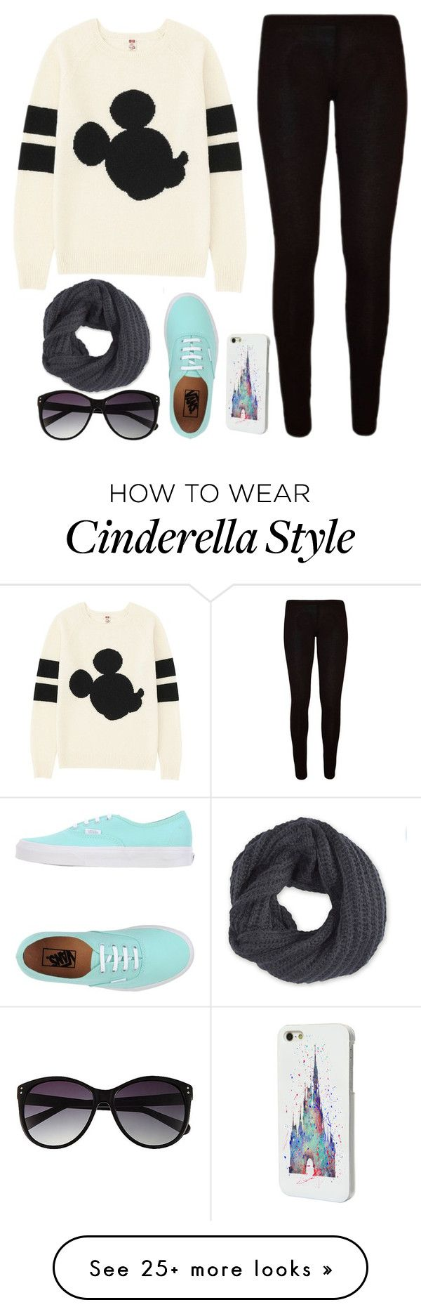 """outfit made for my friend :)"" by bradey-5 on Polyvore featuring Uniqlo, Vans, Disney, Vince Camuto and Frenchi"