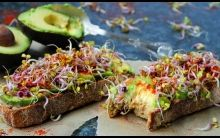 Avocado, Tahini and Super Sprouts on Toasted Sourdough