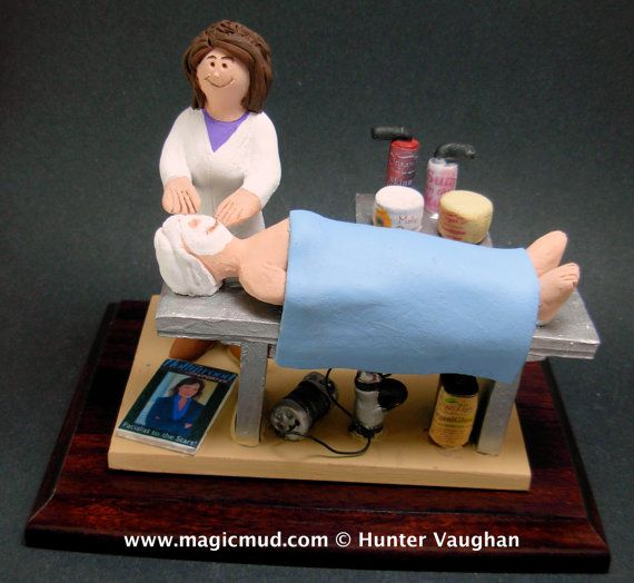 Esthetician Figurine  www.magicmud.com    1 800 231 9814    magicmud@magicmud.com $225  Personalized #Medical Gift Figurines, custom created just for you!    Perfect present for all #Doctors, a  heartfelt gift for birthdays, graduations, anniversaries, new office openings, retirement, as a thank you to a great #physician  Surgeon, cardiologist, therapist, nurse, ob-gyno, podiatrist, psychiatrist, nephrologist, urologist, radiologist, any occupation made to to order by #magicmud
