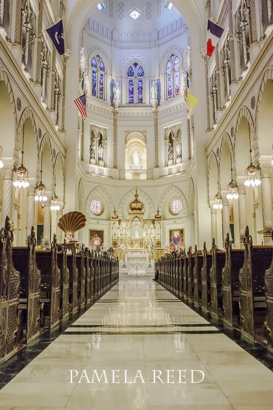 Immaculate Conception Jesuit Church on Broad Street in New Orleans | Great Wedding Venues | Church Wedding Ceremony | New Orleans Weddings | Wedding Photography | Pamela Reed Photography