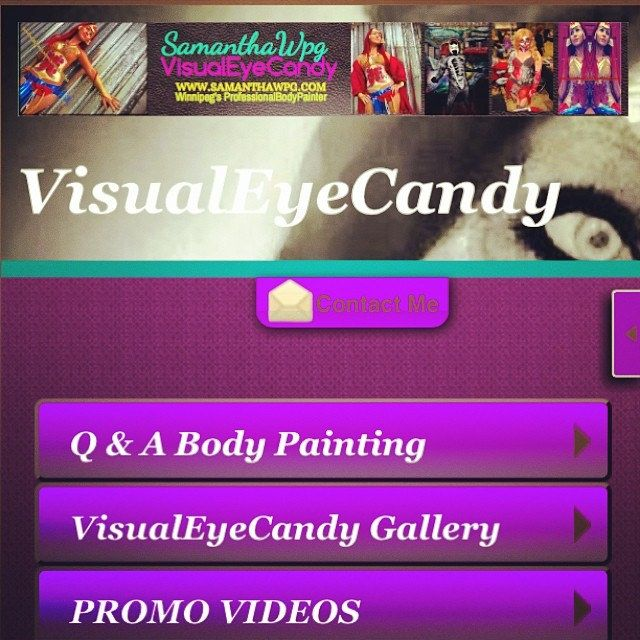 @samanthawpgcom Body Painting SamanthaWpg.Com #MobileWebsite #VisualEyeCandy www.samanthawpg.com updated come check it out #kiddies