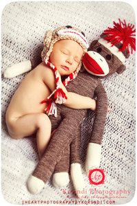 Sock Monkey & Baby picture, not a big sock monkey person but would be cute with any stuffed animal.