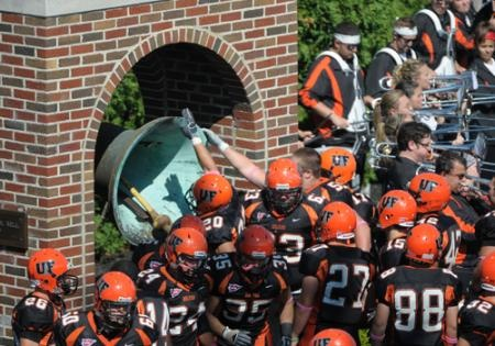 the famous Victory bell at Findlay University-Ohio