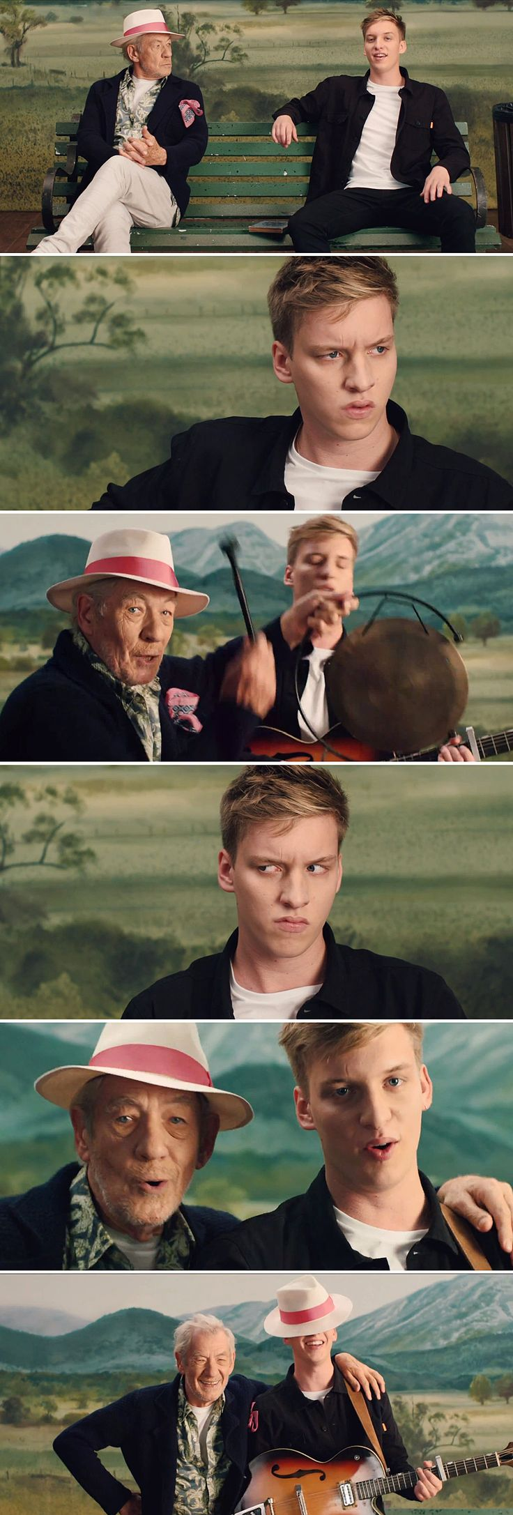 Lord Of The Rings & Hobbit screen legend #SirIanMcKellen appears in #GeorgeEzra's video for his new single #ListenToTheMan. With some pretty brilliant lip-synching and excellent dialogue, this video is absolutely charming! Watch it here : http://www.creation.com.es/george-ezra-listen-to-the-man/