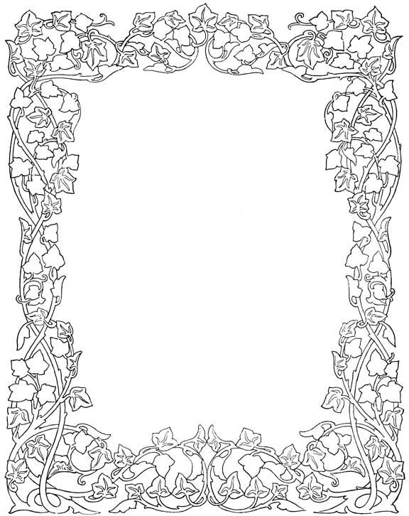 Ivy page border