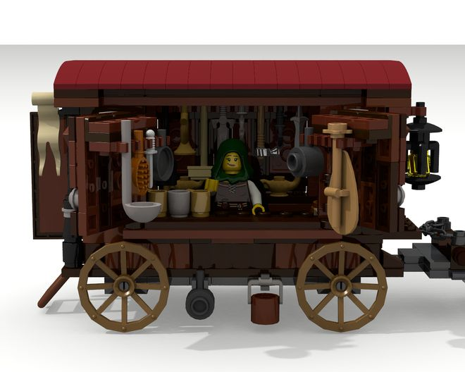 I´m happy to present you yet another projectbased on the medieval theme: The Medieval Peddler! Features: Take off the roof to reveal the inside of the wagon Enter the coach...