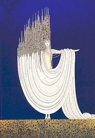 Erte.  It's hard to know which came first for me: my appreciation of Art Deco or Erte's artwork.