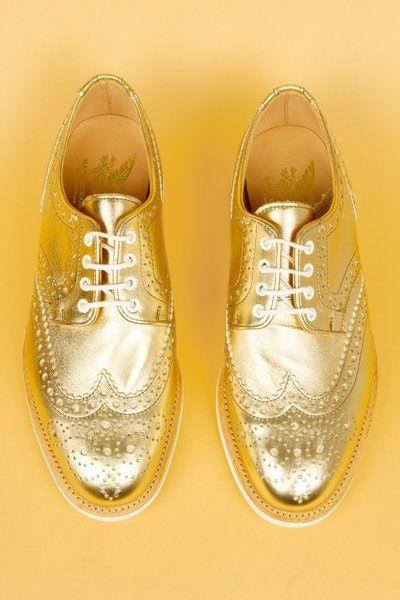 mens gold shoes