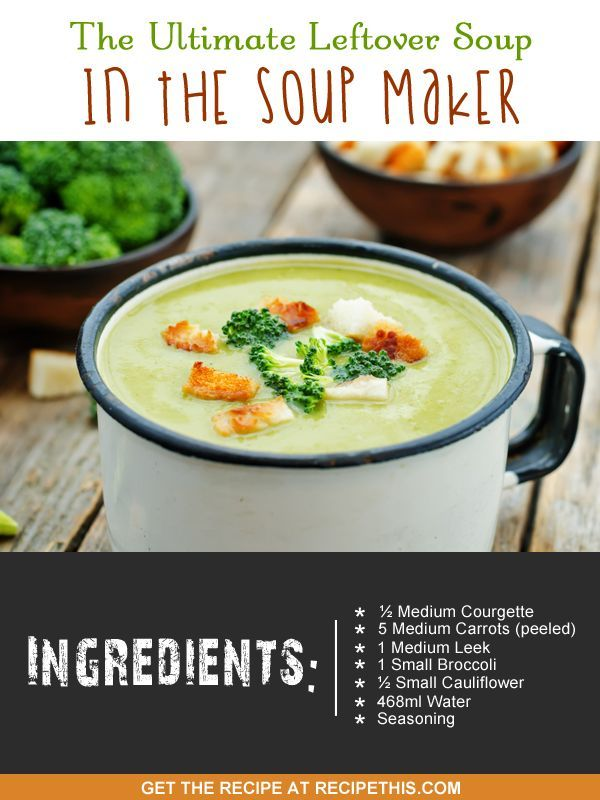 Soup Maker Recipes | the ultimate leftover soup in the soup maker