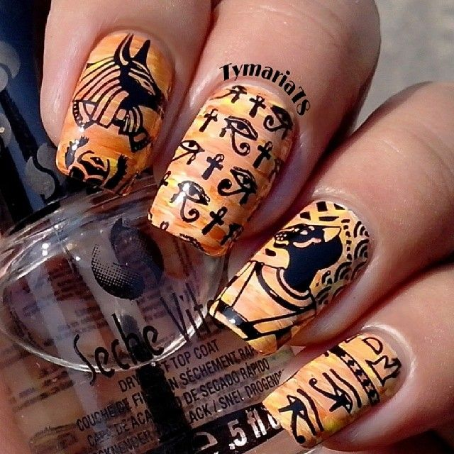 EGYPT #nail #nails #nailart - 45 Best Egyptian Nail Designs Images On Pinterest Egyptian Nails