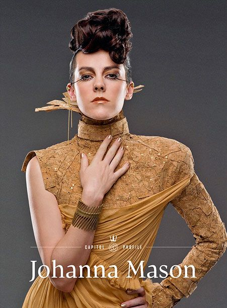 'Hunger Games': New issue of 'Capitol Couture' with cover star Johanna arrives online. I don't know why but out of all the people in this series she is my favorite character.