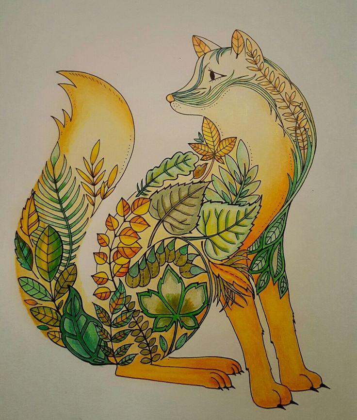 #fox #johanna #basford #enchanted #forest