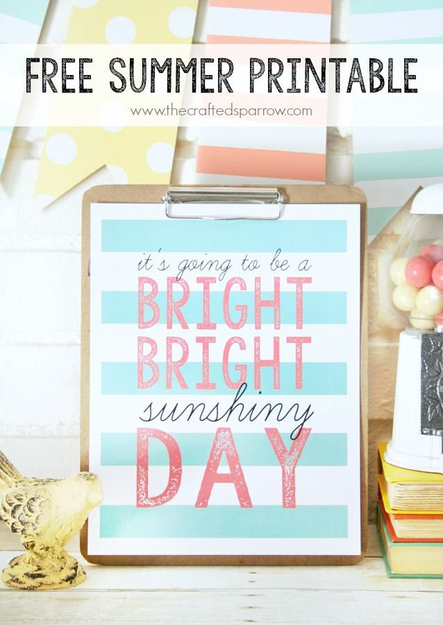 Free Summer Quote Printable from The Crafted Sparrow