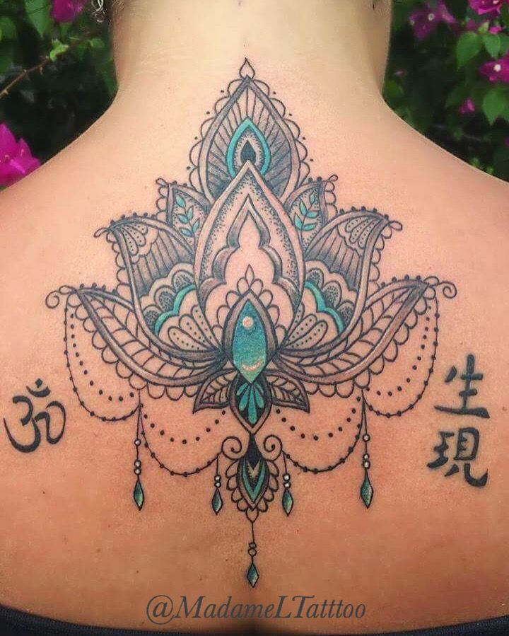 Zumba Tattoo Ideas: Henna Style Lotus 👌🏻