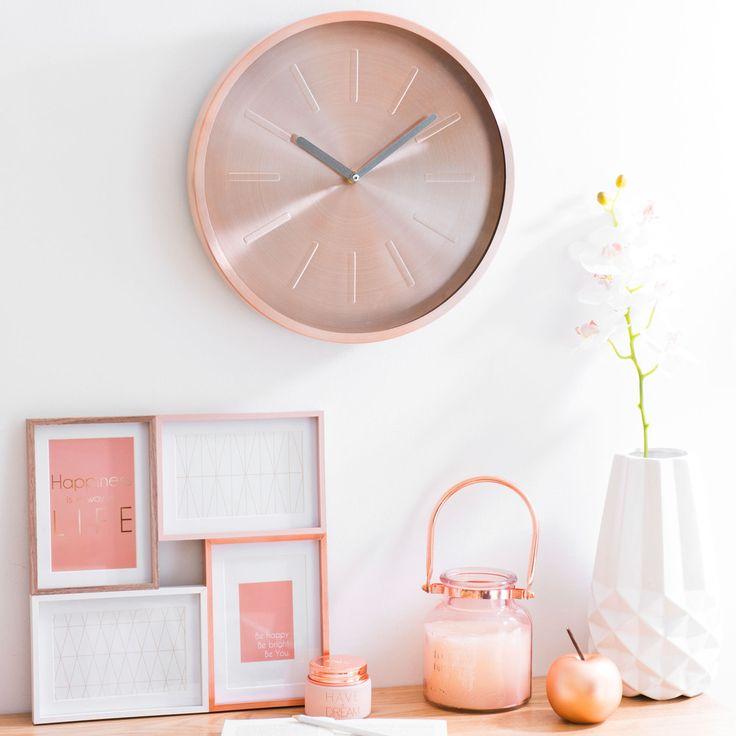 Horloge en métal D 36 cm LULEA COPPER | Maisons du Monde