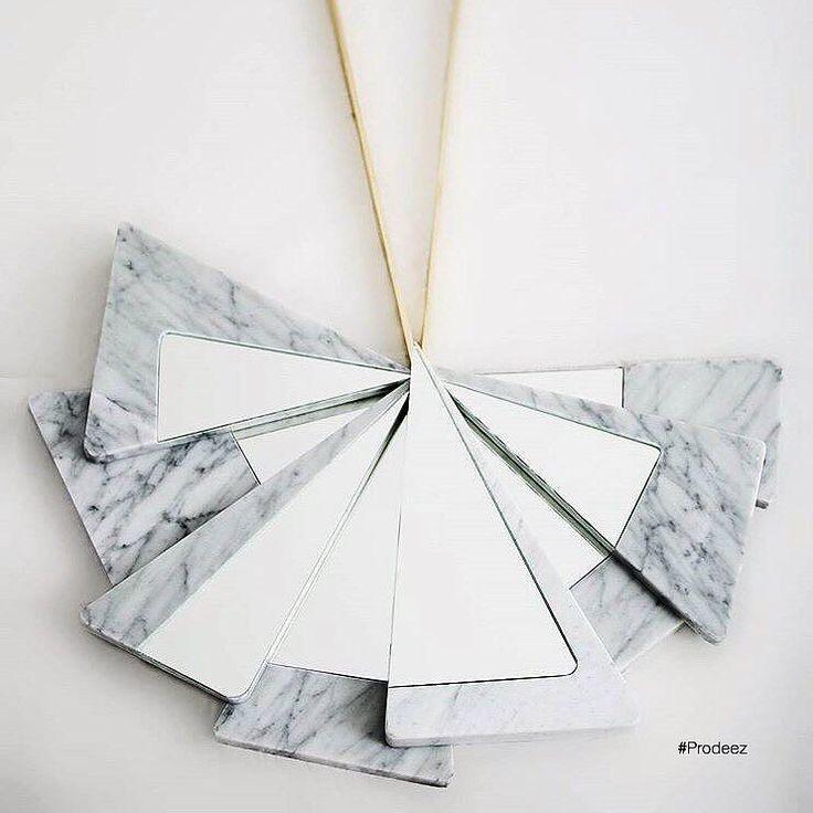 From Prodeez Product Design: Poise Mirror by Loulwa Al Radwan. #furniture #mirror #marble #creative #design #ideas #designer #loulwaalradwan #interior #interiordesign #product #productdesign #instadesign #style #furnituredesign #prodeez #industrialdesign #art