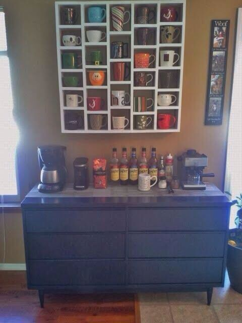 Coffee bar for your kitchen. I need this for all my mugs.