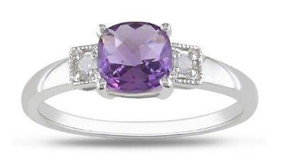 Stříbrný prsten s ametystem a diamanty  #ametyst #ametystovyprsten #prstenysametystem #fialovydrahokam #prsteny #stribrneprsteny #prstenystribro #diamanty #diamantoveprsteny #snubniprstenypraha