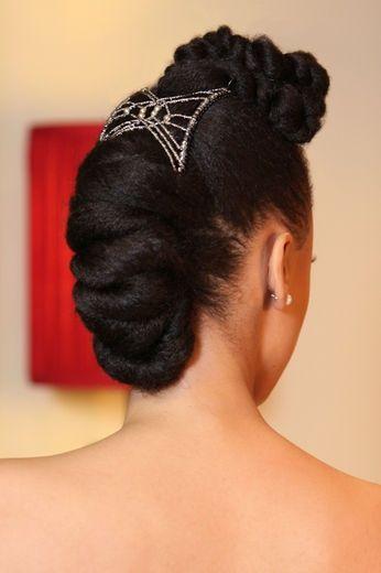 Wedding up do black bride, natural hair bride, black hair