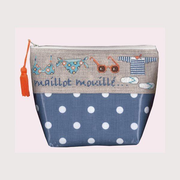 Trousse Maillot Mouillé Bonheur des Dames Trousse imperméable pour ranger votre maillot de bain. Attention! Série limitée