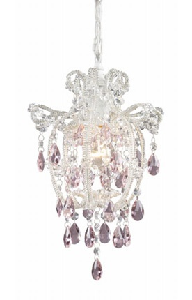 chandelier with purple