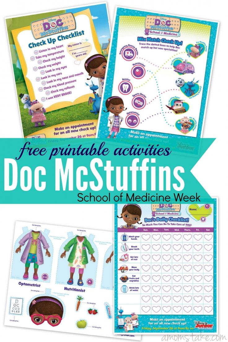 This is a graphic of Crazy Doc Mcstuffins Cutouts