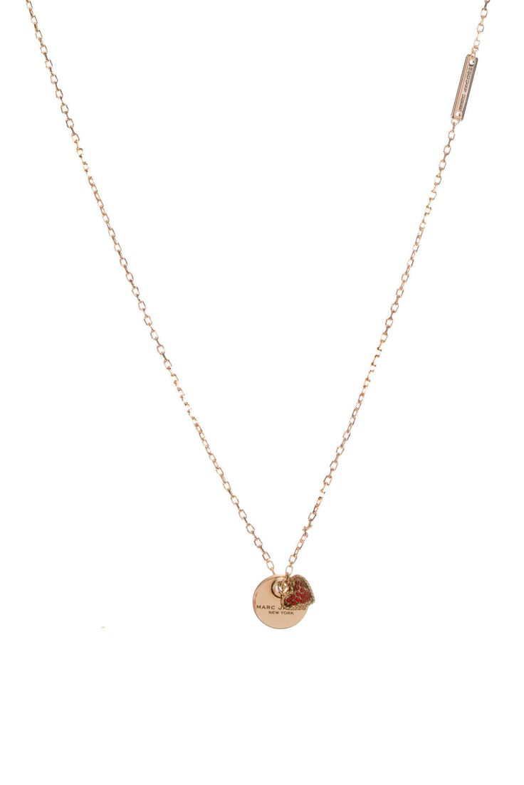 Halsband MJ Coin Pendant Heart RED - Marc Jacobs - Raglady