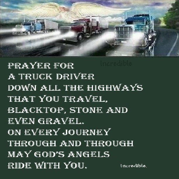 """A trucker's wife's prayer: """"Bless my trucker out on the road ..."""