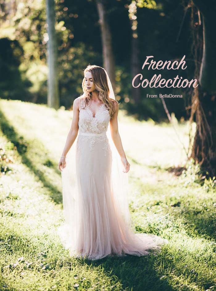 Soft, ethereal wedding dresses by Wendy Makin.