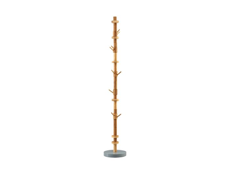 Stack coat stand- natural. Design: Sara Polmar