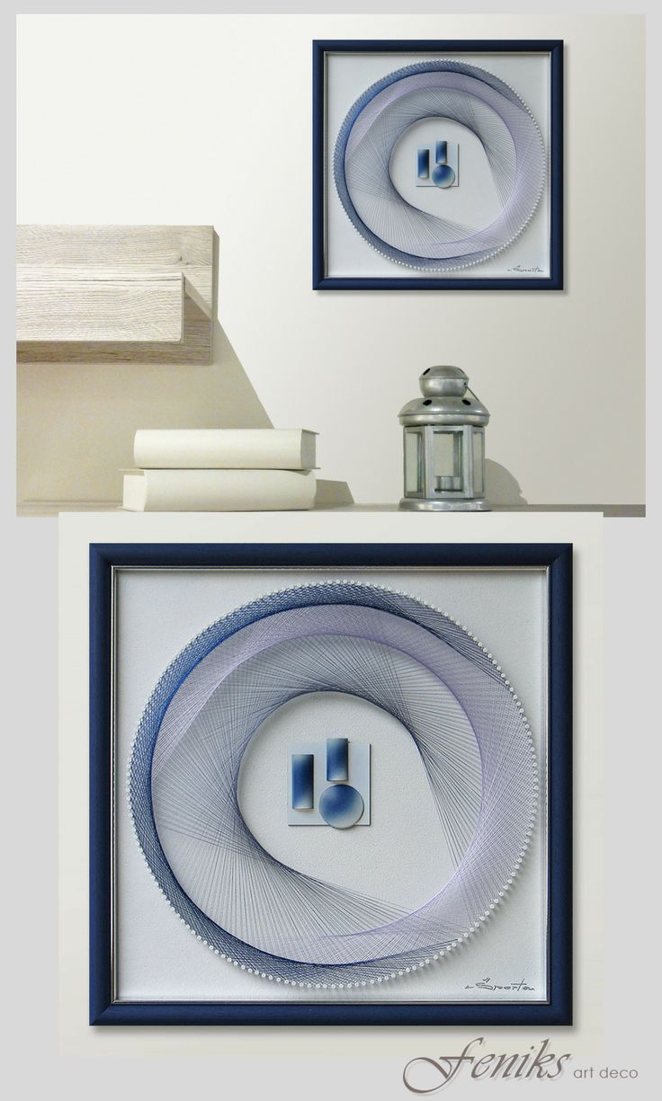 Home interiors and gifts framed art - String Art 3d Framed Art Abstract Wall Art Beautiful Zen Art Sacred Geometry In Pastel Blue With Relief A Special Gift Idea