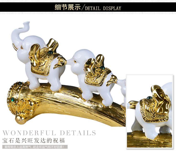 Китайский офис идеи подарка аксессуары для дома ТВ шкаф винный шкаф слон украшения новые предметы интерьера высококлассные ремесел - Taobao