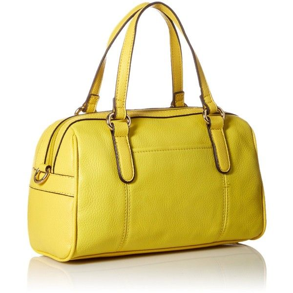 Tignanello Main Street Small Satchel Cross Body, Lemon, One Size:... ($54) ❤ liked on Polyvore featuring bags, handbags, shoulder bags, man bag, crossbody satchel, tignanello handbags, hand bags and crossbody purse