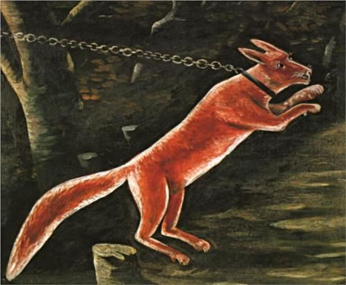 Fox on chain - Niko Pirosmani