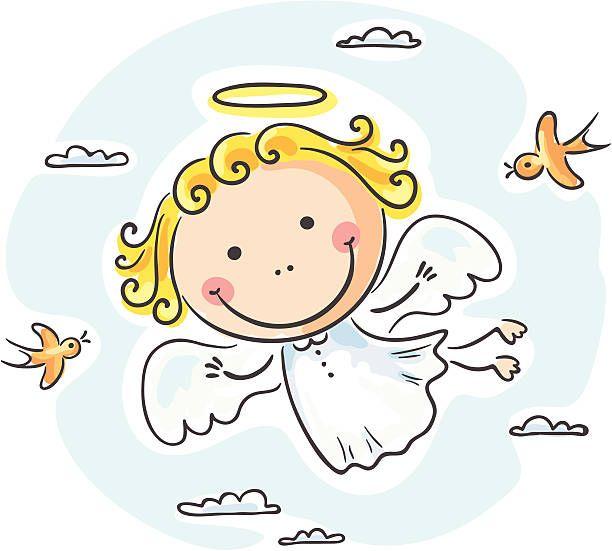 Angel Ilustracao De Arte Vetorial Angel Illustration Angel Flying Angel Clipart