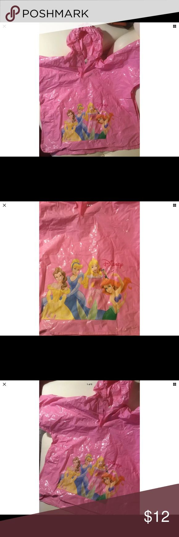 Princess PINK Raincoat Princess PINK Raincoat plastic poncho like cover for when the Princess cannot get wet!👸 Disney Jackets & Coats Utility Jackets