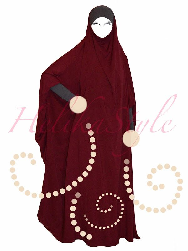 French jilbab designed by HelikaStyle. This is for inspiration. Sew the best models with HelikaStyle!