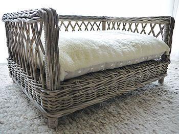 Raised Rattan Dog Bed