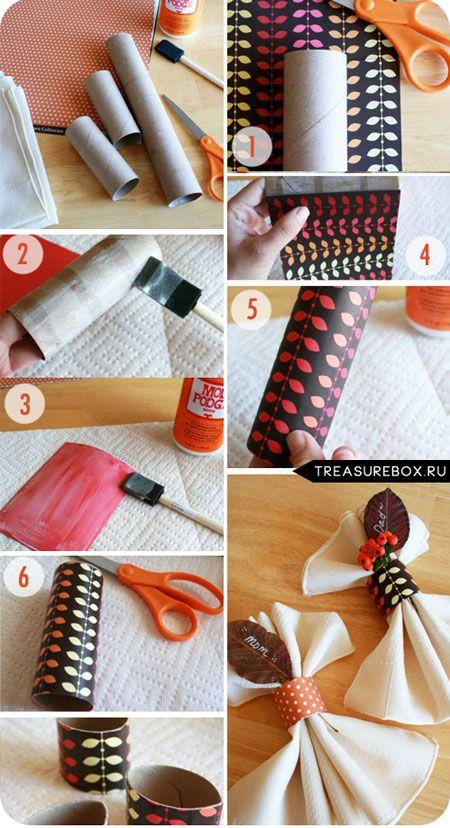 Как сделать своими руками кольца для салфеток