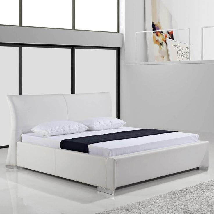 polsterbett 180x200 wei kunstleder latest bett mit bettkasten x danisches bettenlager. Black Bedroom Furniture Sets. Home Design Ideas