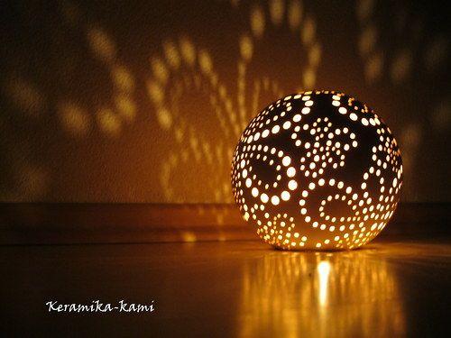 Keramický svícen-  Květinová zahrada