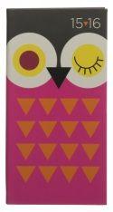WHSmith 2015-16 Slim Winking Owl Diary Week to View