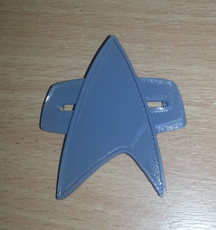 3D print of the Voyager badge to test out how the size and details came out.